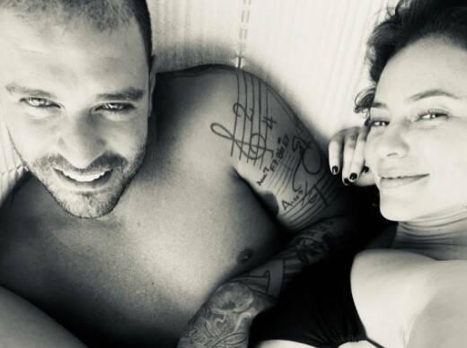 Paolla Oliveira posa com Diogo Nogueira. Foto: Reprodução/Instagram