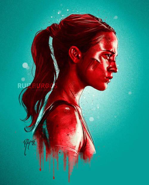 Tomb Raider (Alicia Vikander). Foto: Reprodução/Coolpopsart
