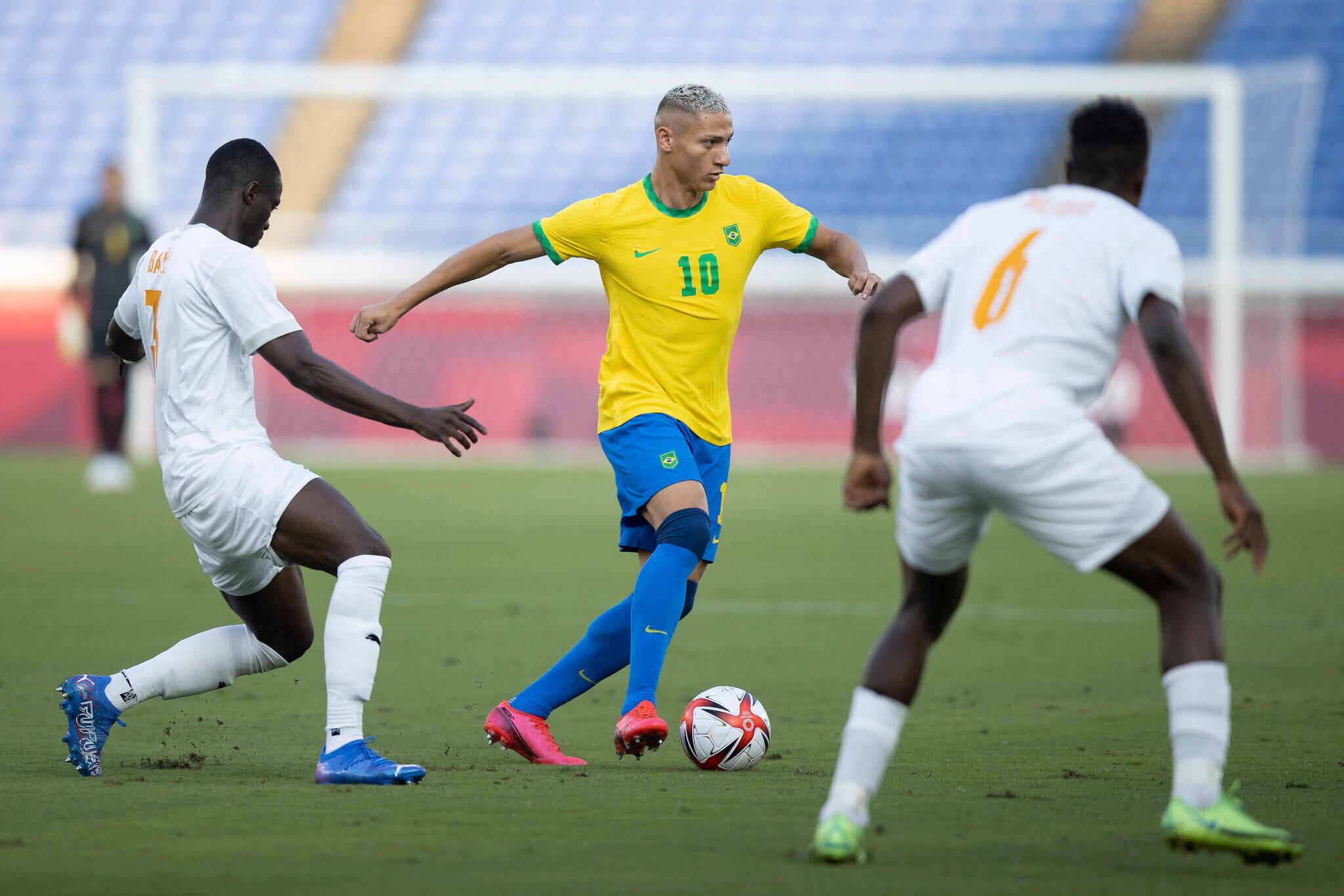Brasil x Costa do Marfim. Foto: Lucas Figueiredo / CBF