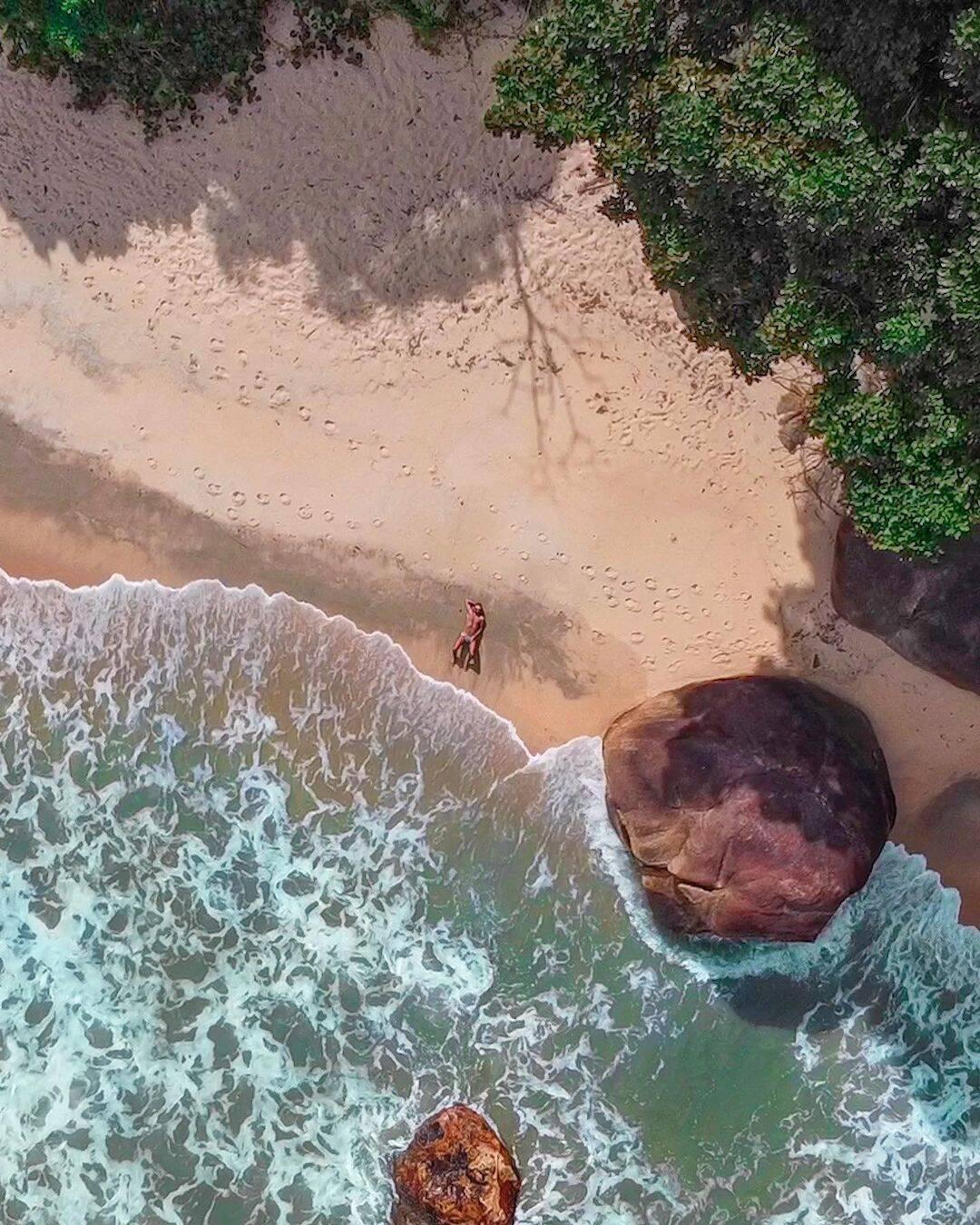 Brava do Sul é ideal para quem gosta de praia deserta e tranquila. Foto: Reprodução/Instagram