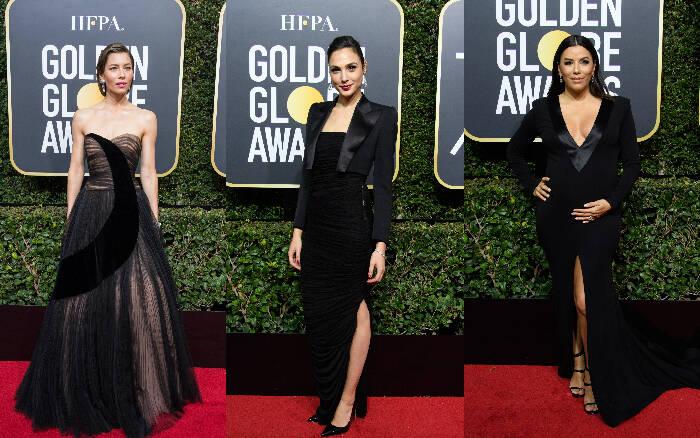 18. Jessica Biel (atriz)/ 19. Gal Gadot (atriz)/ 20. Eva Longoria (atriz). Foto: HFPA Photographer