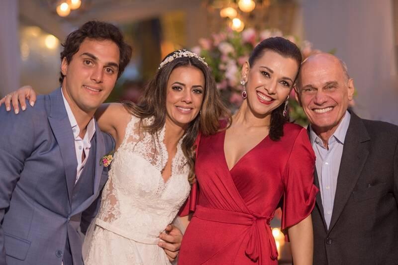Ricardo Boechat no casamento de Paloma Tocci, também âncora da Band. Foto: Reprodução / TV Band / Instagram