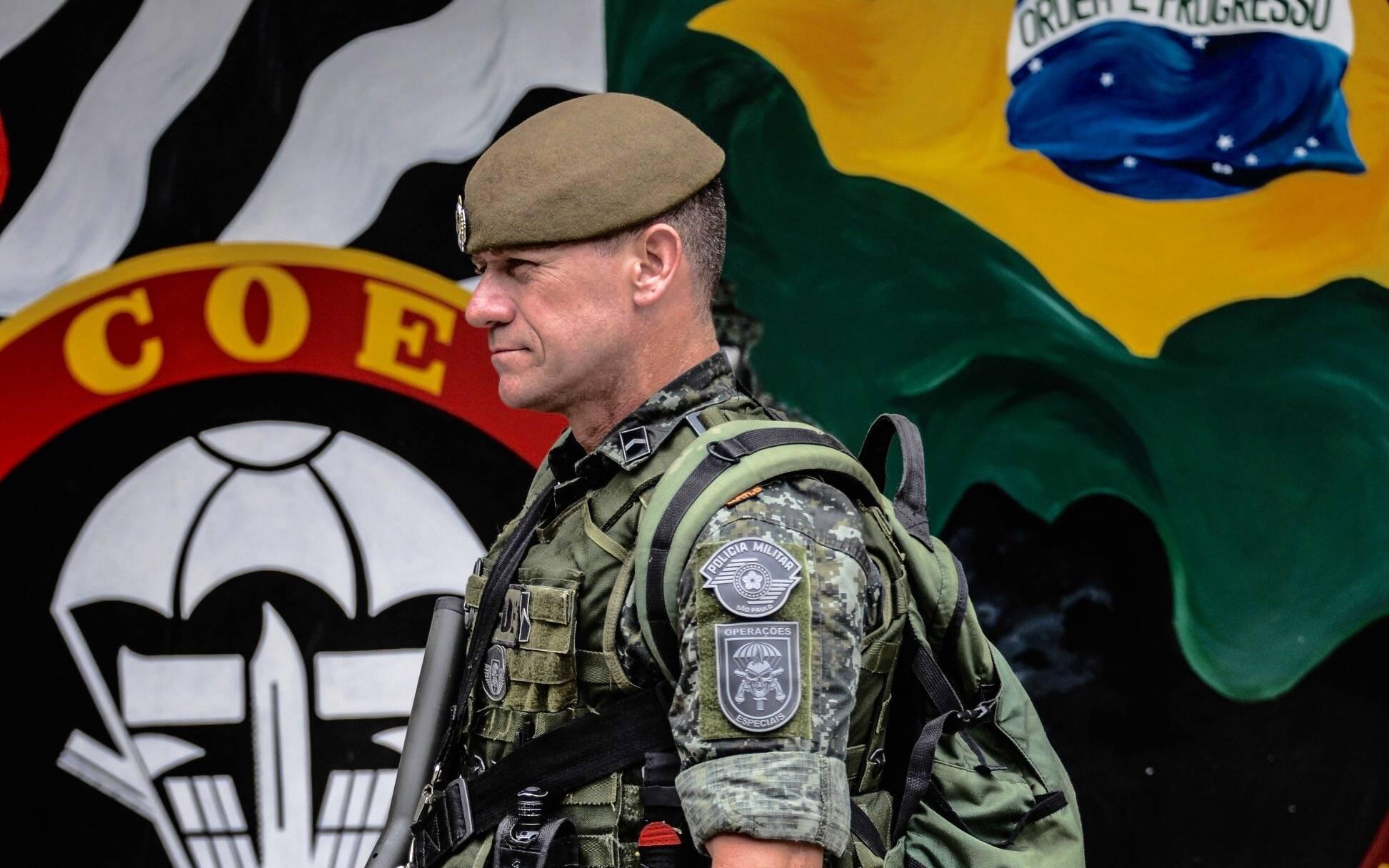 PM do COE na sua Base. Foto: Major PM Luis Augusto Pacheco Ambar