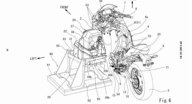 Kawasaki Ninja elétrica patente. Foto: Divulgação