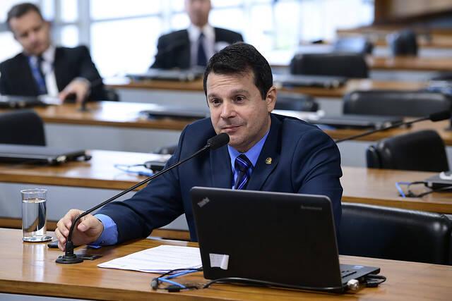 Senadores do que integram a bancada do Podemos no congresso.. Foto: Agência Senado