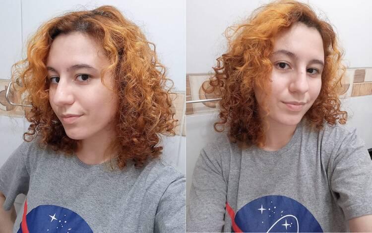 O cabelo seco depois de algumas horas. Foto: Acervo pessoal