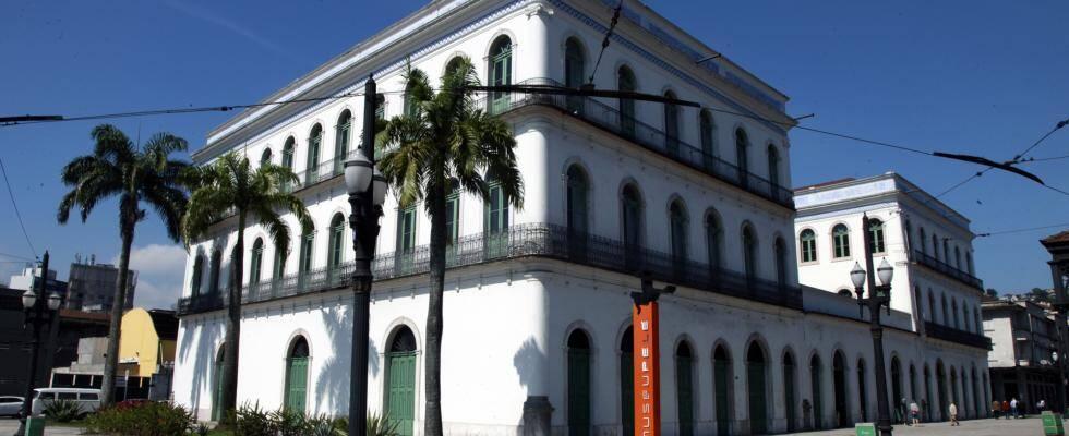 Casarões do Valongo, onde se encontra o Museu Pelé. Foto: Rosangela Menezes
