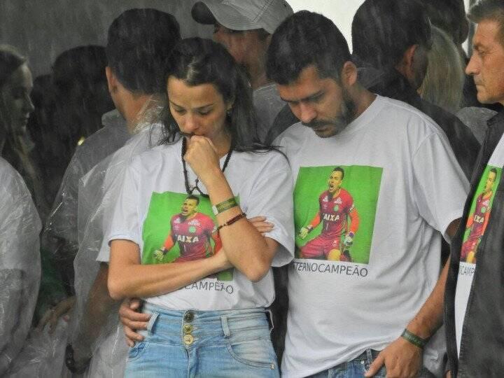 Familiares do goleiro Danilo. Foto: Reprodução/Breno Fortes/Correio Braziliense