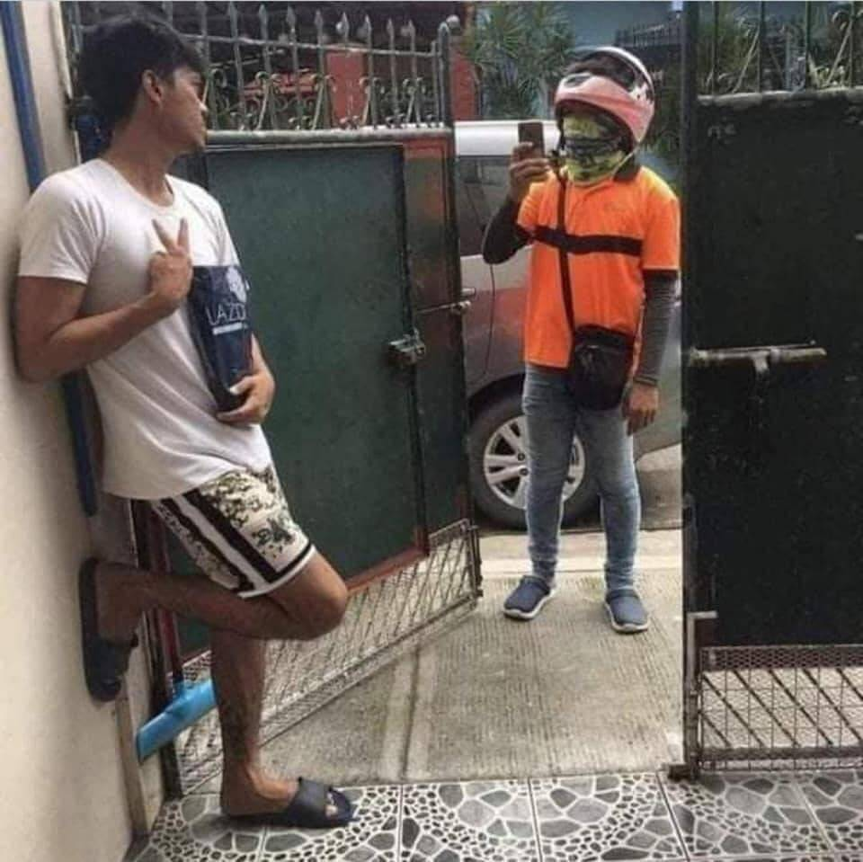 Filipino posando. Foto: Reprodução