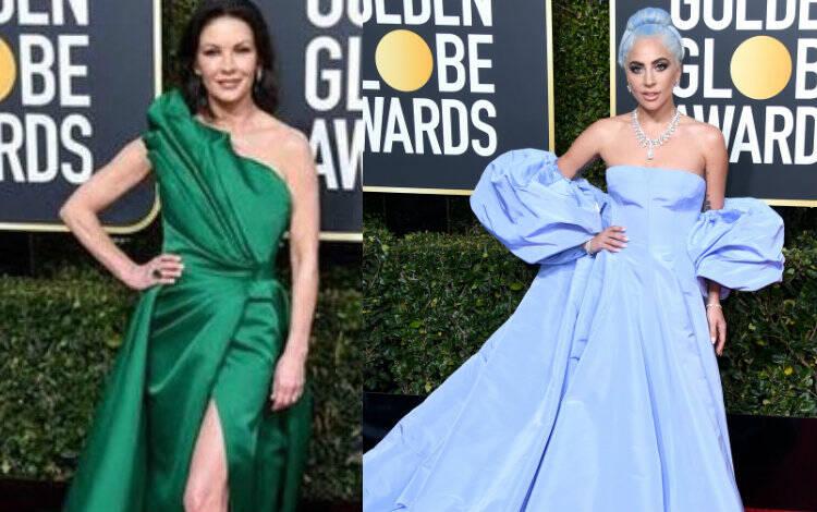 Catherine Zeta-Jones e Lady Gaga no Globo de Ouro. Foto: Reprodução/Instagram