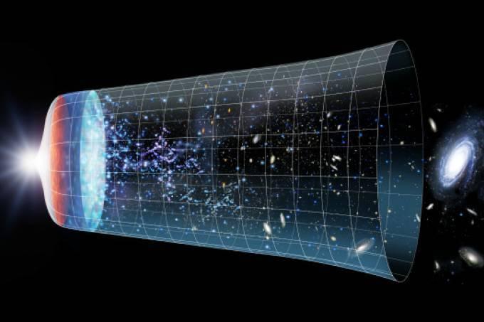 Utilizando a deformação do espaço-tempo causada pelas galáxias e aglomerados de galáxias no universo, astrônomos confirmaram a existência da energia escura (não confundam com a matéria escura!). Embora sejamos capazes de observar a expansão acelerada do Universo, não conhecemos a origem física desta energia. Foto: Detlev van Ravenswaay/Science Photo Library/Latinstock
