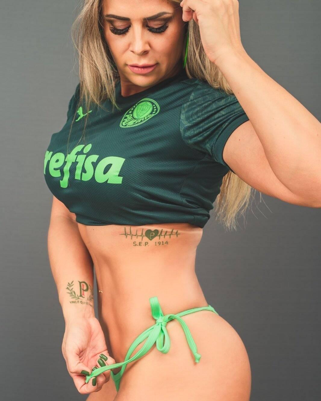 Aline Simony - Musa do Palmeiras. Foto: Reprodução / Instagram