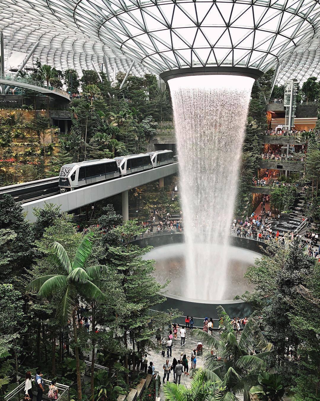Jewel Changi Airport. Foto: Reprodução/Instagram/Shermainexk