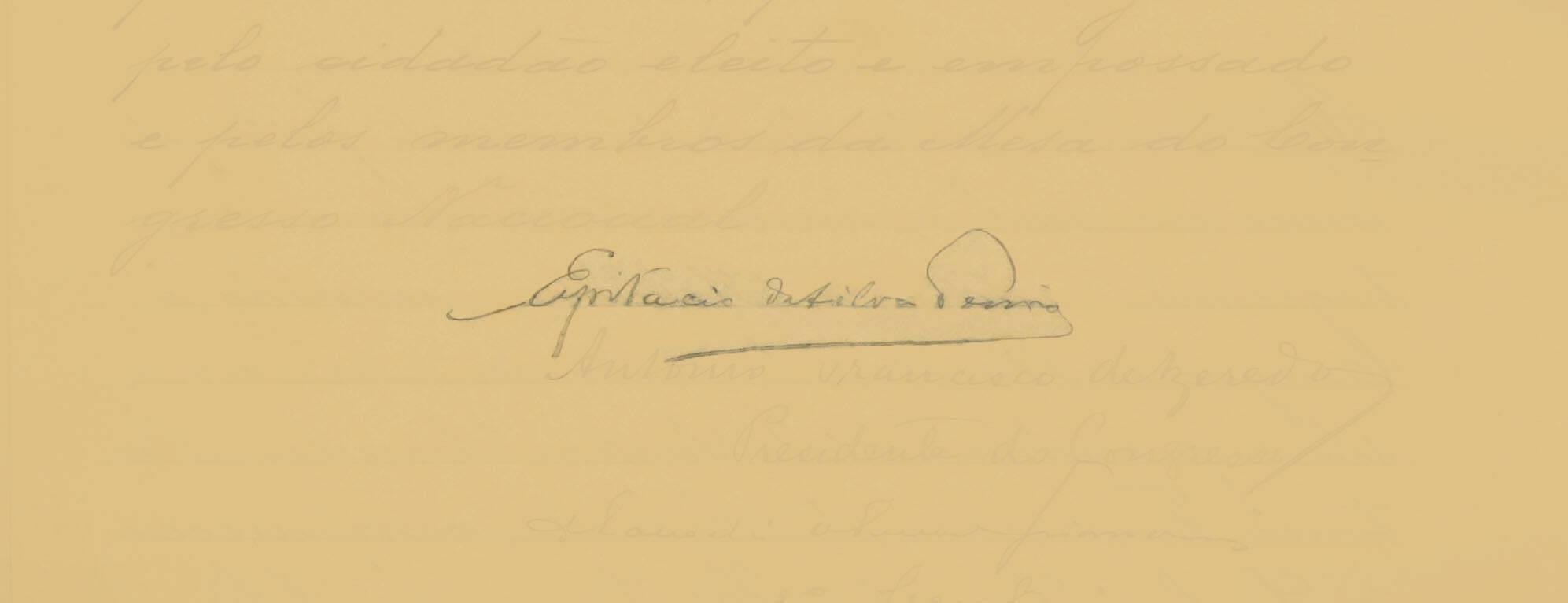 Epitácio Pessoa foi eleito para governar até 1922. Assumiu em 28 de julho de 1919. Foto: Reprodução / Senado Federal