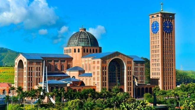 O famoso Santuário Nacional de Aparecida. Foto: Santuário Nacional de Aparecida