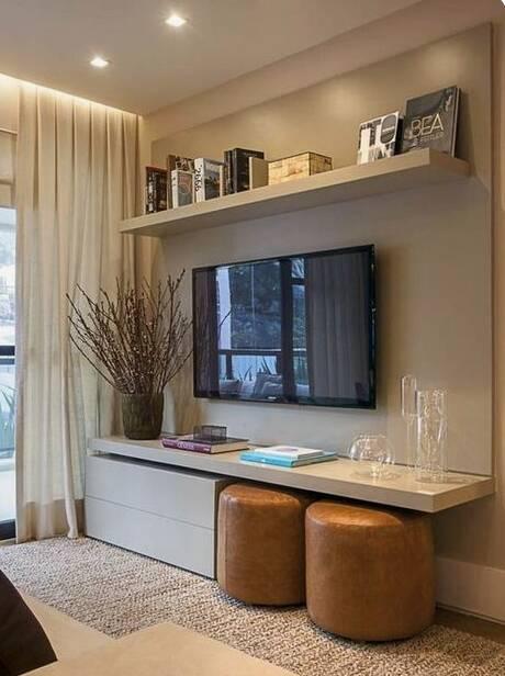 Exemplo de salas pequenas decoradas. Foto: Reprodução/ Pinterest/ bricolagemdecoração