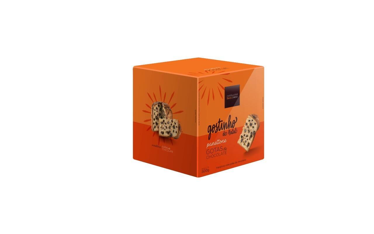 Panettone gotas da Chocolates Brasil Cacau - 500g (R$ 29,90). Foto: Divulgação