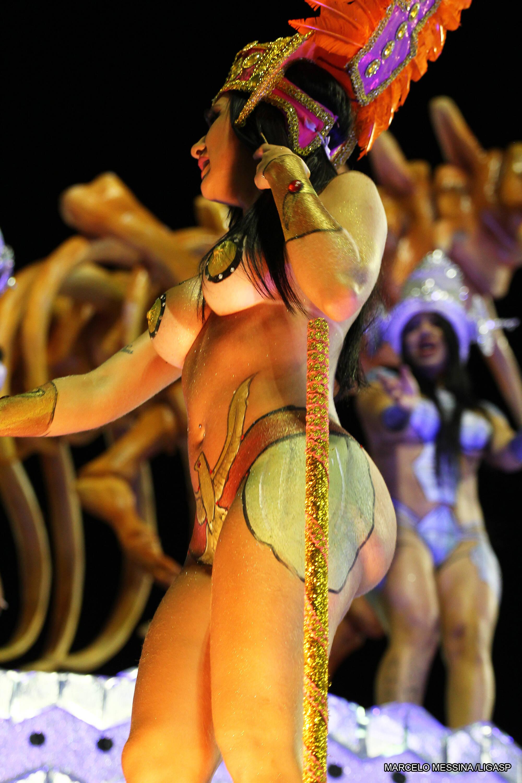 Destaque da Acadêmicos do Tucuruvi na última sexta (09). Foto: Divulgação/Liga Carnaval SP