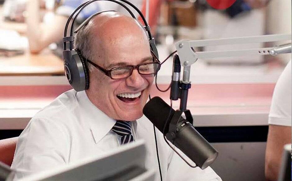 Ricardo Boechat durante programa de rádio. Foto: Reprodução / TV Band / Instagram