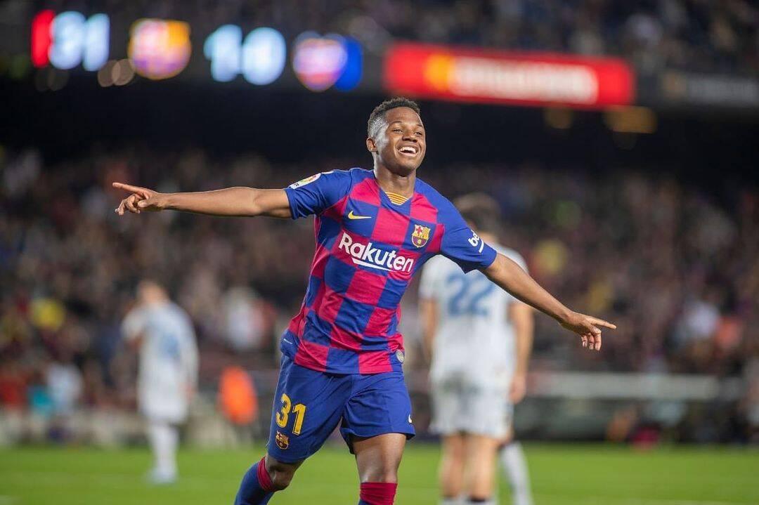 Ansu Fati, do Barça, é considerado o futuro do futebol espanhol.. Foto: Reprodução/Instagram