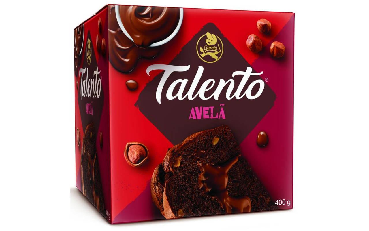 Panettone Talento de avelã da Garoto - 400g (R$ 24,99). Foto: Divulgação