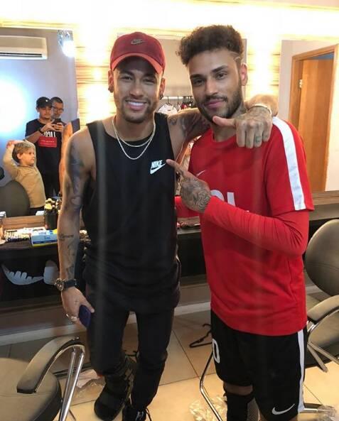 Neymar e Gabriel Lucas. Foto: Reprodução/ Instagram