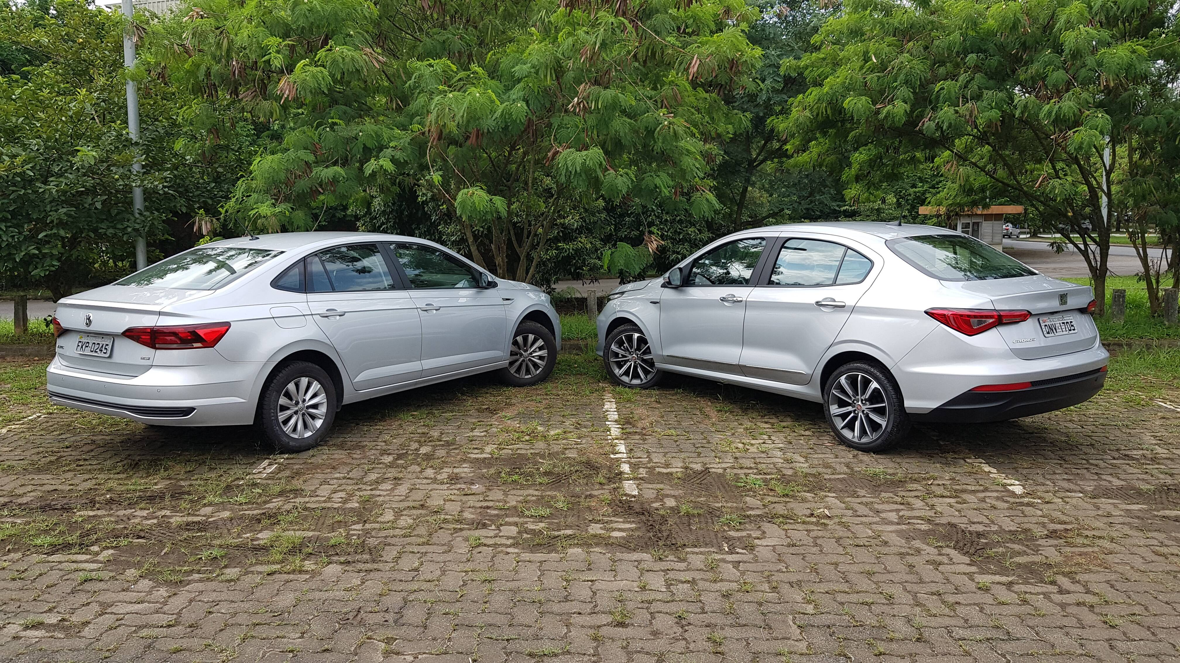 Fiat Cronos e VW Virtus. Foto: Caue Lira/iG