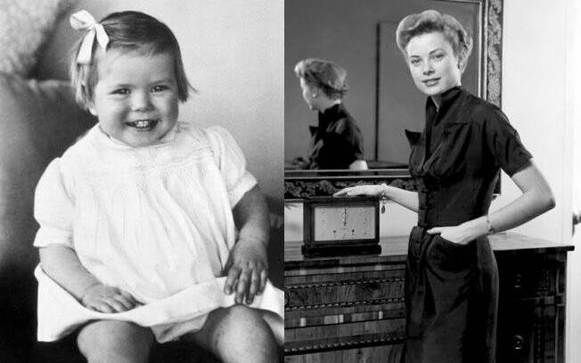 Grace Kelly em dois momentos: criança e no final da adolescência