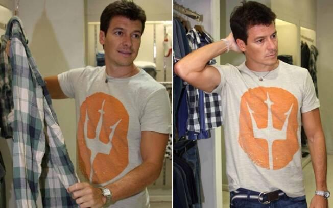 Rodrigo Faro faz compras em São Paulo