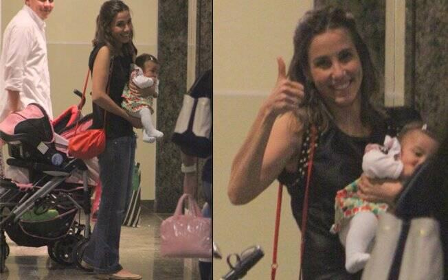 Tania Khalill com a filha recém-nascida Laura