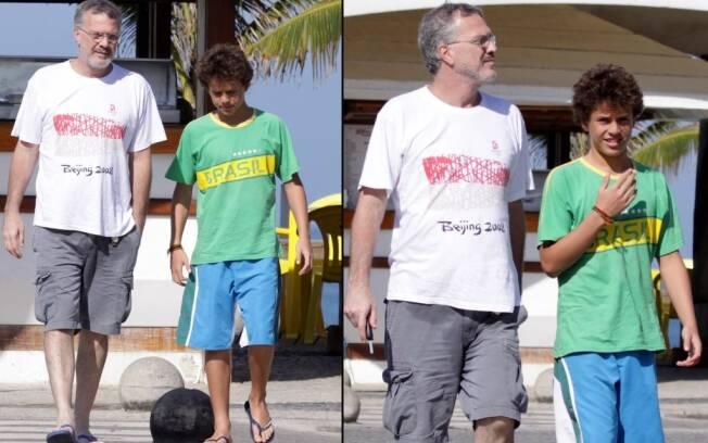 Pedro Bial e o filho