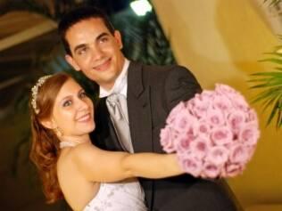 Ana Paula e o noivo, Luís Eduardo: casal organizou tudo sozinho