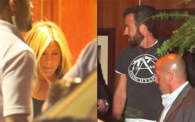 Jennifer Aniston e Justin Theroux: quase assumidos