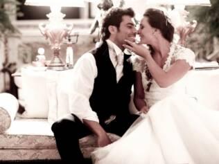 Silvia e o noivo, Rogério: fotografias com estilo