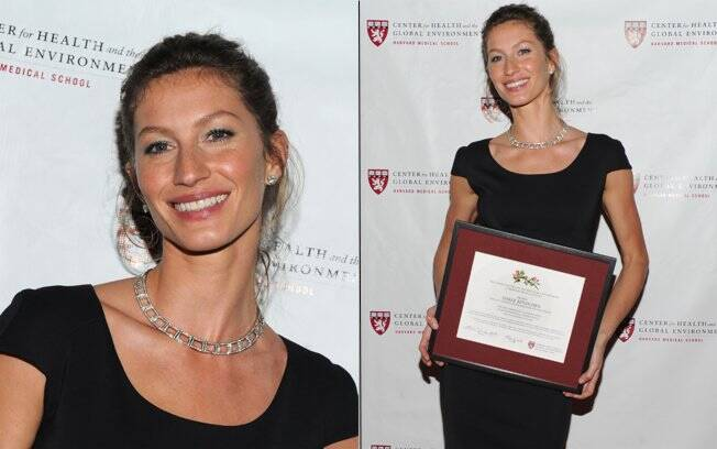 Gisele Bündchen foi uma das homenageadas do  Harvard Center for Global Health and the Environment