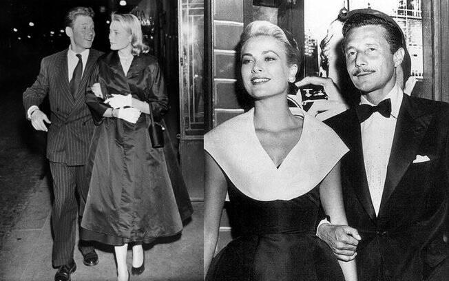 Grace Kelly com os dois namorados oficiais, Jean-Pierre Aumont e Oleg Cassini
