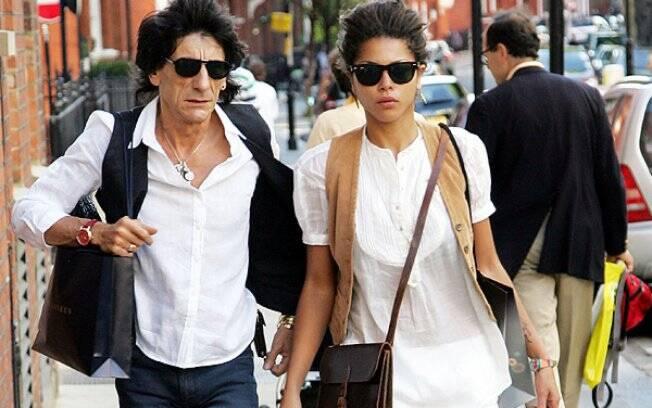 Ron Wood e Ana Araújo: fim de namoro