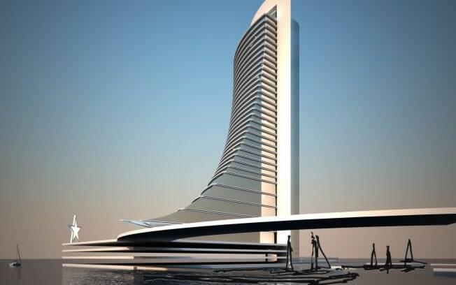Edifício em forma de vela projetado pelo escritório Aflalo & Gasperini em Cuba