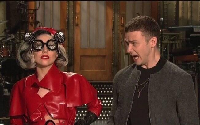 Lady Gaga e Justin Timberlake: juntos no