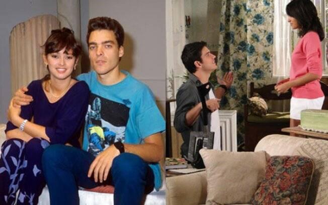 Pedro e Gabi: o casal teve final feliz nas duas versões - Paulo Castelli & Myriam Rios, Marco Pigossi & Carolina Oliveira