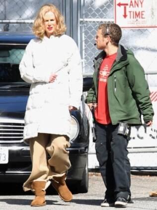 Nicole Kidman no set de filmagens de