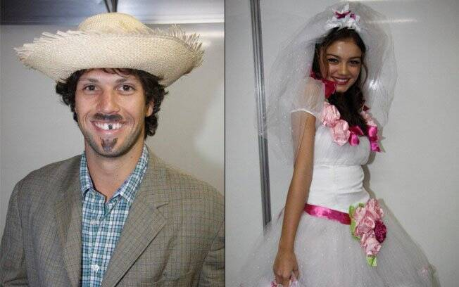 Gustavo Leão e Sophie Charlotte: os noivos da festa junina