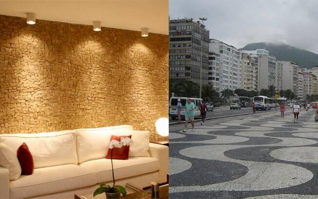 Inicialmente usadas apenas em pavimentos municipais, como no calçadão carioca, as pedras portuguesas, hoje, ganharam nova roupagem e são encontradas até em paredes