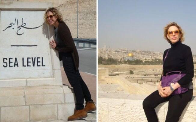 Marília Gabriela passa férias em Israel