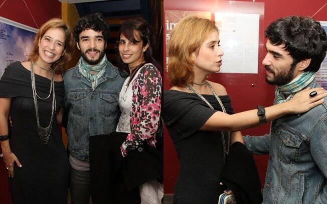 Caio Blat e Maria Ribeiro com a amiga Paloma Duarte