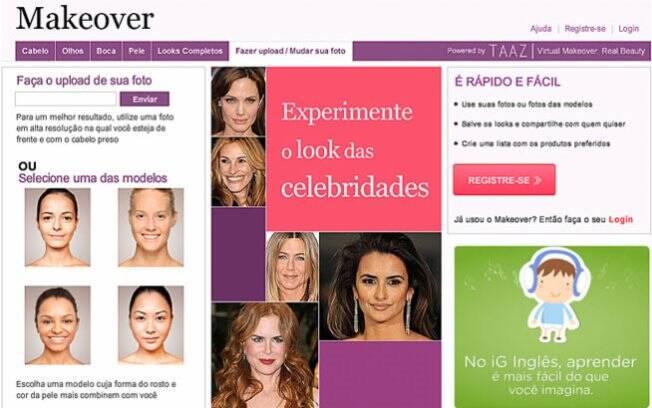 O Makeover permimte que vocês experimente diferentes tipos de cabelo e maquiagem