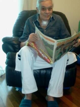 Chico Anysio em sua casa, no Rio, esta quarta-feira (23)