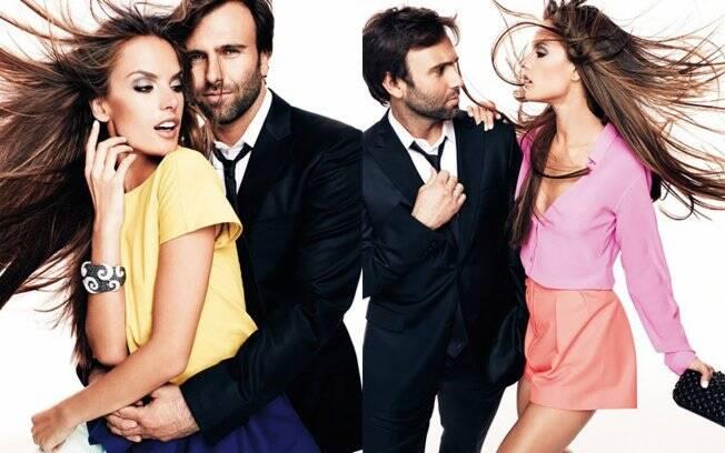 Alessandra Ambrosio e Jamie Mazur estampam uma das capas da revista