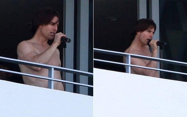 Tom Cruise, que está em Miami para as filmagens de