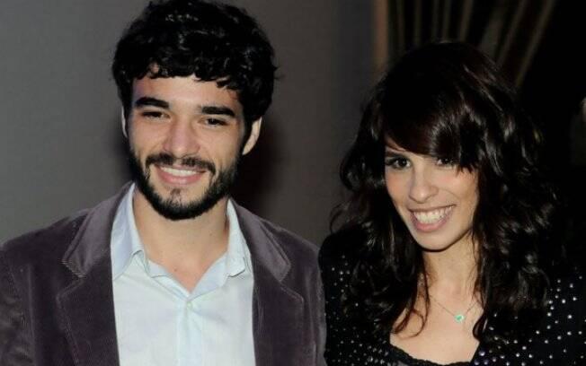 Caio Blat e Maria Ribeiro na festa de lançamento da novela